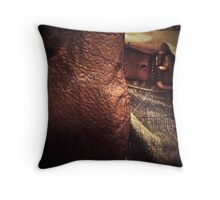 Denim & Leather Throw Pillow