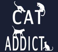 Cat Addict Kids Tee