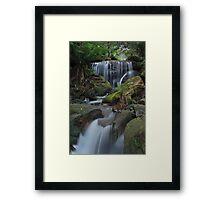 Below the Cascades. Framed Print
