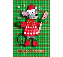 Christmas card with mouse Photographic Print