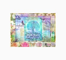 Tree and Nature Art Collage with Emerson Inspirational Quote T-Shirt