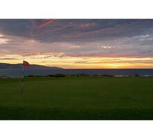 Sunrise over golf course Photographic Print
