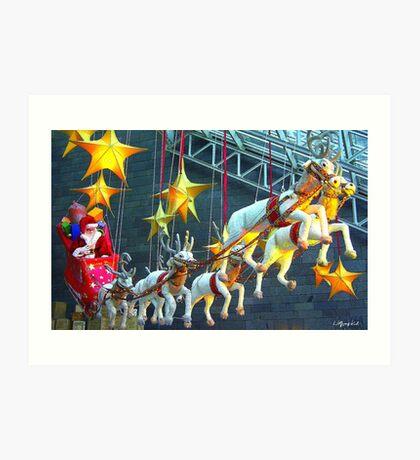 Father Christmas and His Sleigh Art Print
