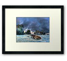 After storm, shipwreck Framed Print