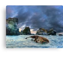 After storm, shipwreck Canvas Print