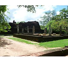 Historic ruins in Sri Lanka Photographic Print