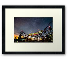 Starry ride at the carnival  Framed Print