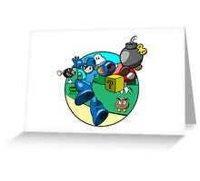megaman in the mushroom kingdom Greeting Card