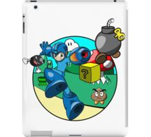 megaman in the mushroom kingdom iPad Case/Skin