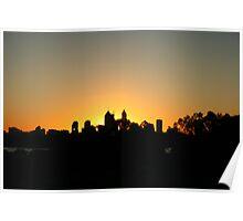 Perth City Glow Poster