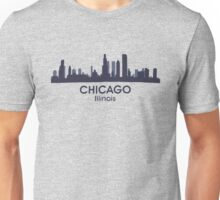 Chicago Illinois City Skyline Unisex T-Shirt