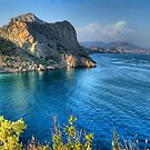 IMAGE OF SEA LANDSCAPE WITH CLOUDS AND BAY by mike2048