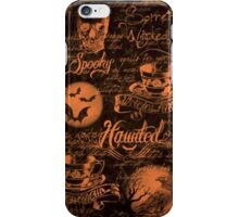 Black & Orange Haunted Halloween iPhone Case/Skin