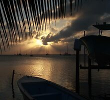 Sunset on Caye Caulker by Peter Child