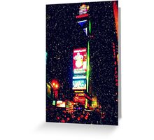 Times Square in Winter Greeting Card