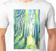Stag in Forest Watercolour Painting Unisex T-Shirt