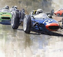 Lola Lotus Cooper Ferrari Datch GP 1962 by Yuriy Shevchuk