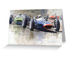 Lola Lotus Cooper Ferrari Datch GP 1962 Greeting Card