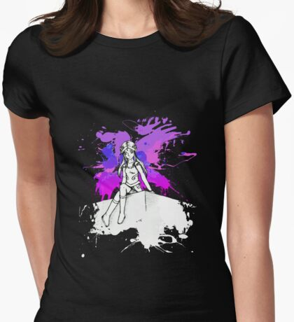 Strike a pose (night theme) Womens Fitted T-Shirt