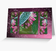 Dressed in ice crystals - Happy Holidays Greeting Card