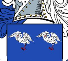 Coat of arms (family crest) for last-name or surname Gibson . Heraldry banner for your name. Sticker