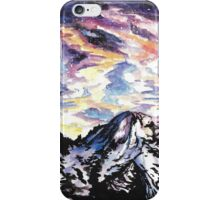 Space: Starry Mountain Scene Watercolour iPhone Case/Skin