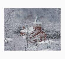 Beautiful Winter Church Gothic White Baby Tee