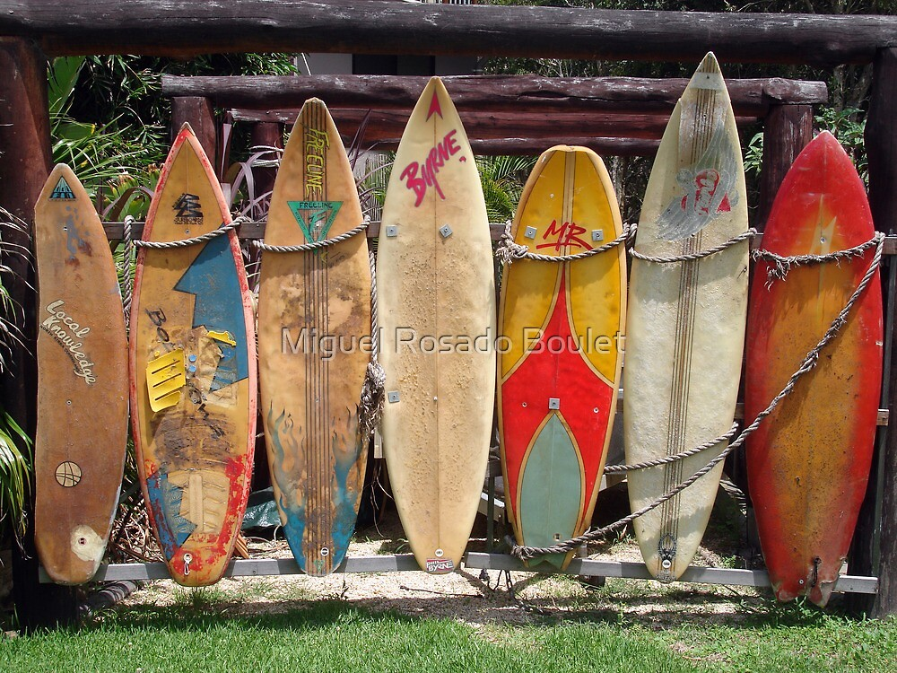 Surfboard Fence by Miguel Rosado Boulet