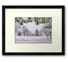 Greeting's Card ~ Merry Christmas & A Happy New Year ~ Framed Print