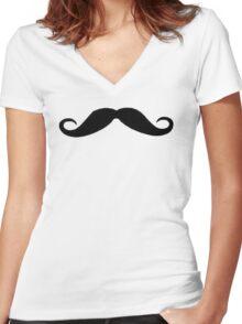 Moustache Women's Fitted V-Neck T-Shirt