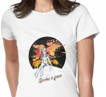 Strike a pose (text) Womens Fitted T-Shirt