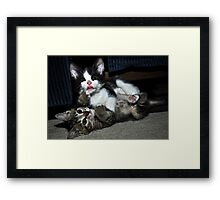 """"""" Lean on me """" Framed Print"""