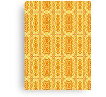 Bright Yellow and Orange Abstract Sunshine Pattern Canvas Print