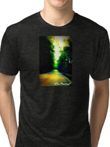The Elocutioner Horror Author and Narrator Graphic 3 Tri-blend T-Shirt