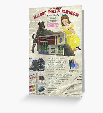 Atomic Ads - MILEMCO Girls Fallout Shelter Playhouse Greeting Card