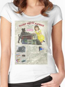 Atomic Ads - MILEMCO Girls Fallout Shelter Playhouse Women's Fitted Scoop T-Shirt