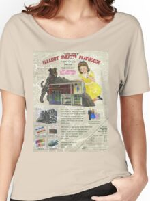 Atomic Ads - MILEMCO Girls Fallout Shelter Playhouse Women's Relaxed Fit T-Shirt