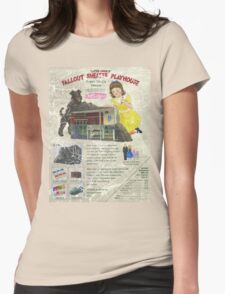 Atomic Ads - MILEMCO Girls Fallout Shelter Playhouse Womens Fitted T-Shirt
