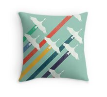 The Cranes Throw Pillow