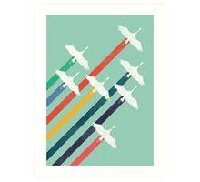 The Cranes Art Print