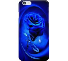 PHOTOSHOP BLUE ROSE VERSION TWO..TEARS OF A BLUE ROSE-PILLOW-JOURNAL,PICTURE-ECT.ECT.. iPhone Case/Skin