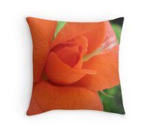 Zesty Rose Throw Pillow