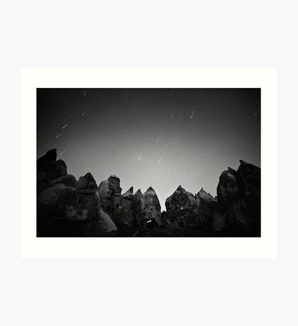 Night Over the Giants - Cappadocia, Turkey Art Print