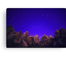 Night Over the Giants - Cappadocia, Turkey Canvas Print