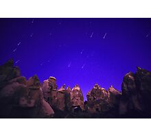 Night Over the Giants - Cappadocia, Turkey Photographic Print