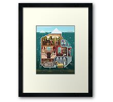 The tip of the iceberg Framed Print