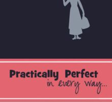mary poppins quote Sticker