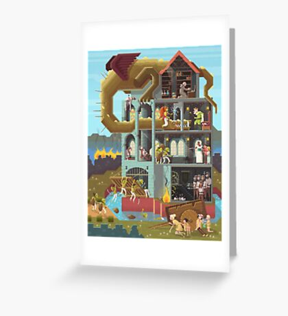 Close the gates! Greeting Card