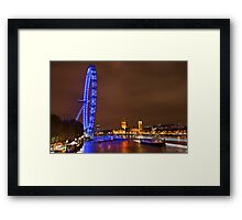 Night falls on the capital Framed Print