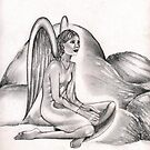 Thinking Angel by symea